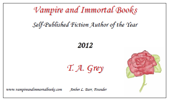 Self-published author of the year T. A. Grey