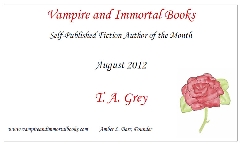 self-published author of the month T.A. Grey