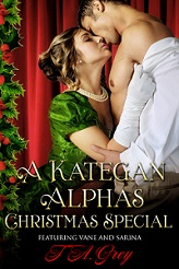 Kategan Christmas erotic romance by T. A. Grey